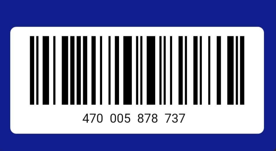Штрих код карты Лента: фото.