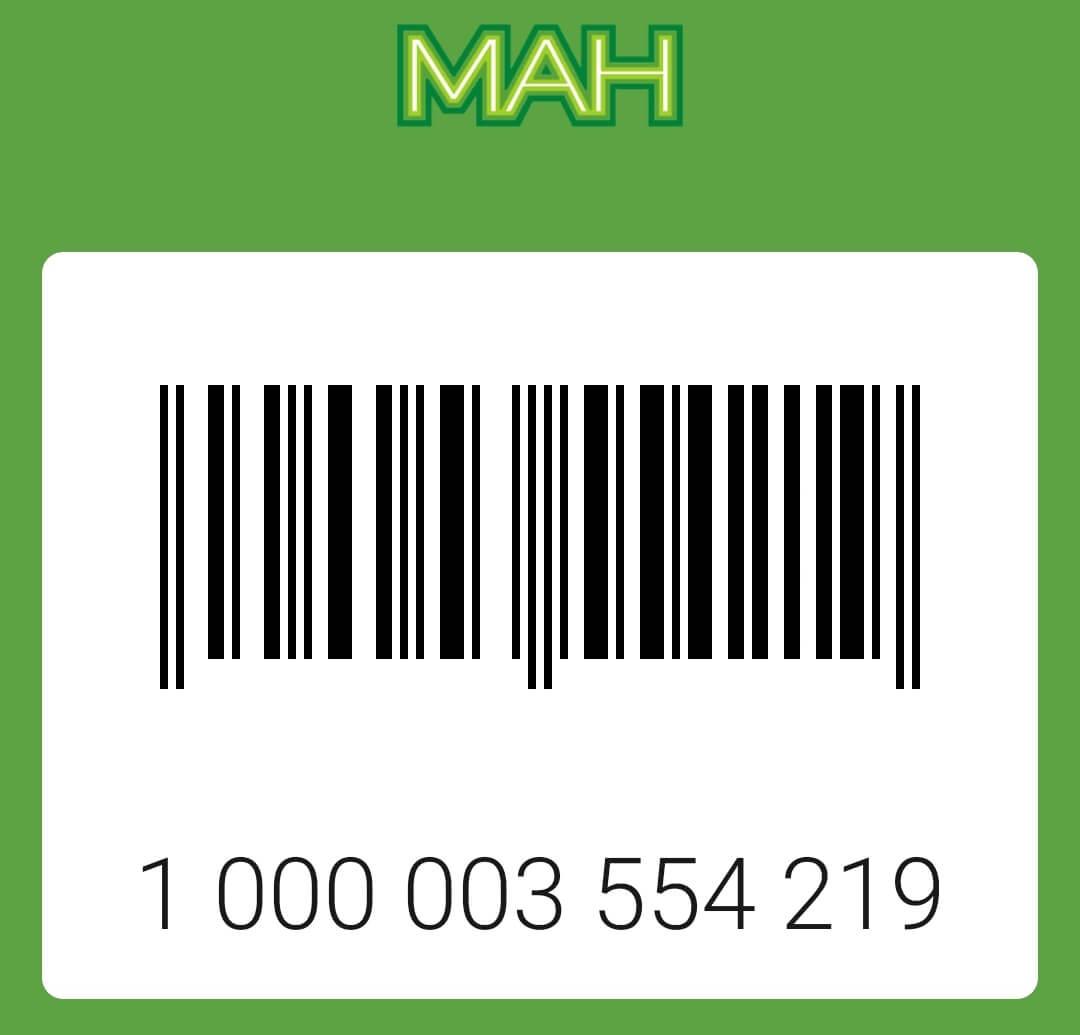 Карта Ман штрих код: фото.