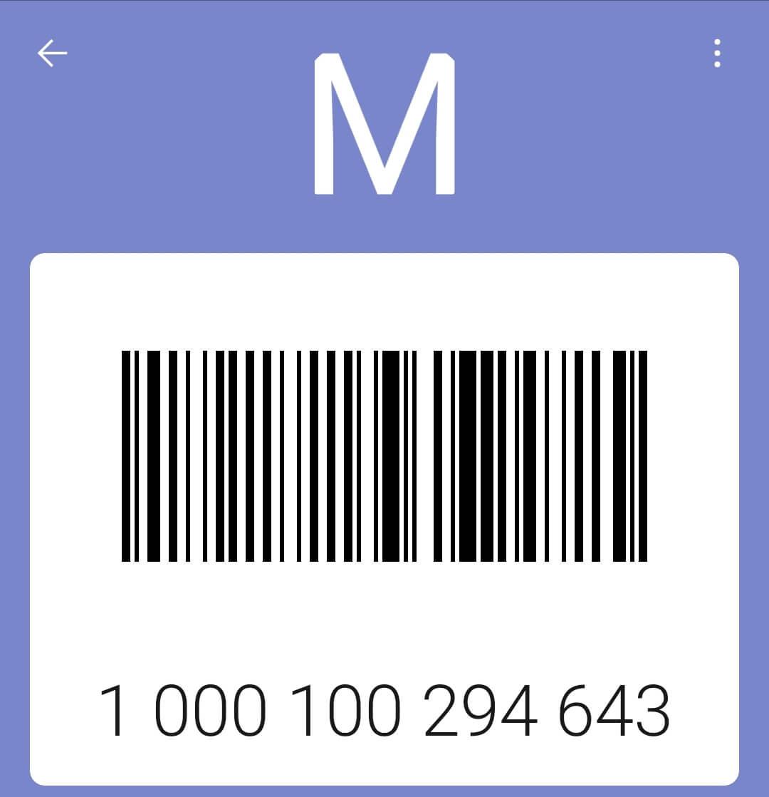 Карта Модис: штрих код.